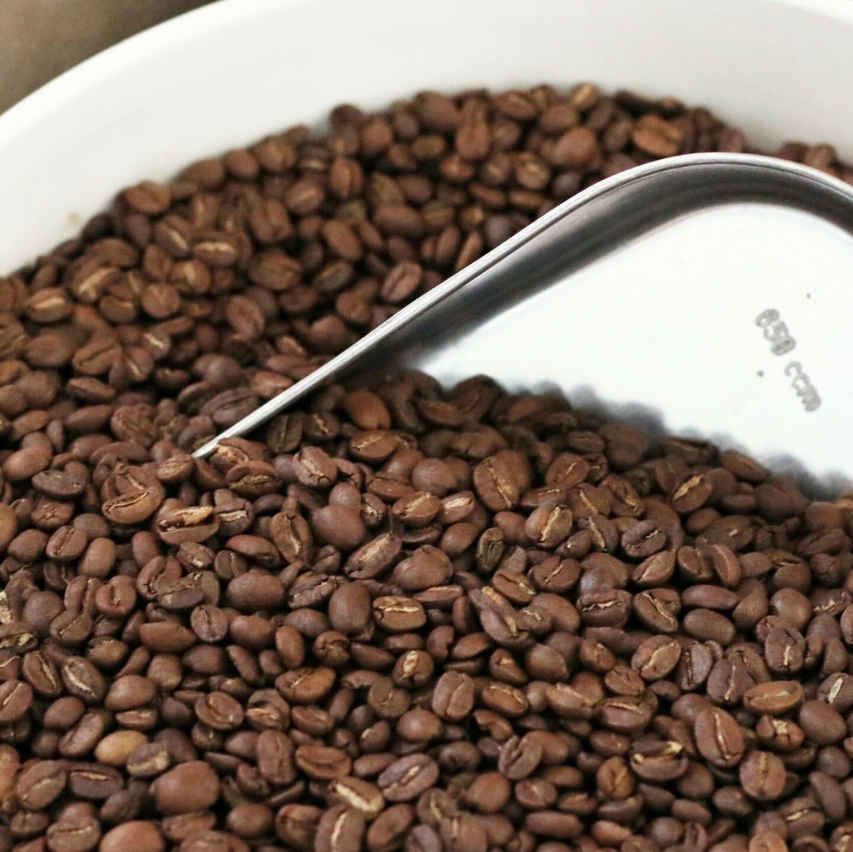 Freshly roasted Perk coffee beans